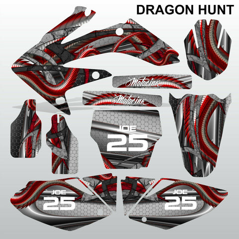 Honda CRF 250 2004-2005 DRAGON HUNT motocross decals MX graphics kit