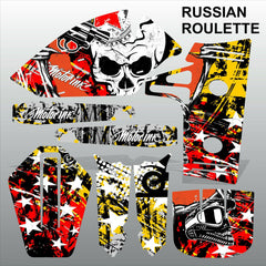 Kawasaki KX 60 1986-2005 RUSSIAN ROULETTE motocross decals MX graphics stripes