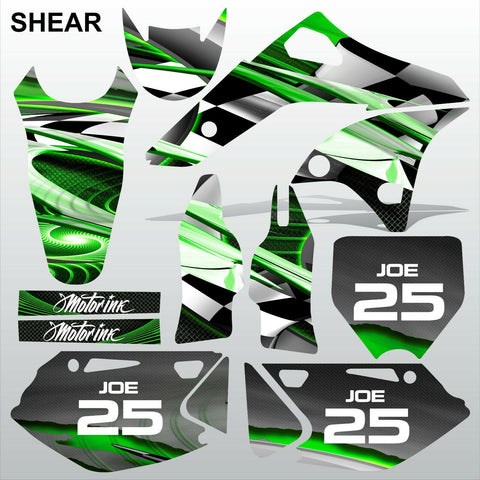 Kawasaki KXF 250 2006-2008 SHEAR motocross racing decals set MX graphics kit