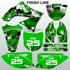 Kawasaki KXF 450 2009-2011 GREEN FINISH LINE motocross decals set MX graphics