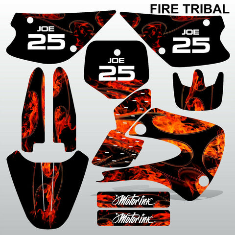 Kawasaki KX 85-100 2001-2012 FIRE TRIBAL motocross decals set MX graphics kit