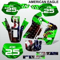 Kawasaki KDX 200 1991-1994 AMERICAN EAGLE motocross racing decals MX graphics
