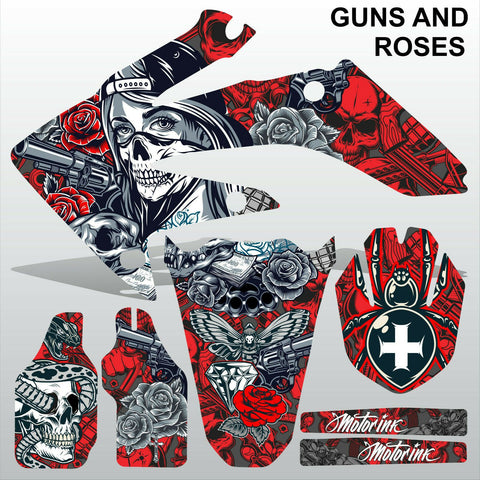 Honda CRF 250 2004-2005 GUNS AND ROSES motocross decals set MX graphics kit