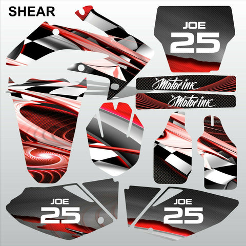 Honda CRF 250 2004-2005 SHEAR motocross racing decals set MX graphics kit