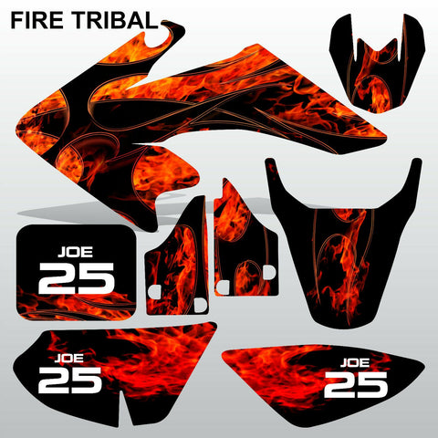 Honda CRF 50 2004-2016 FIRE TRIBAL  motocross decals set MX graphics kit