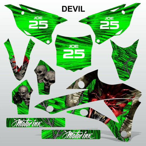 Kawasaki KX 85-100 2014-2015 DEVIL PUNISHER motocross decals set MX graphics kit