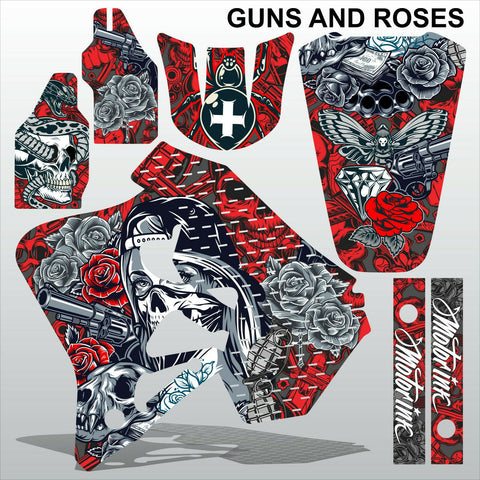 Honda CR125 250 1995-1997 GUNS AND ROSES motocross decals set MX graphics kit