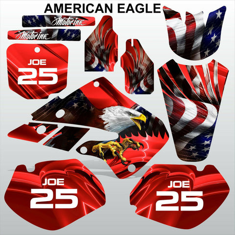 Honda CR125 CR250 1998 1999 AMERICAN EAGLE motocross racing decals MX graphics