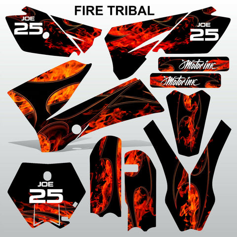 KTM SX 85-105 2006-2012 FIRE TRIBAL race motocross racing decals set MX graphics