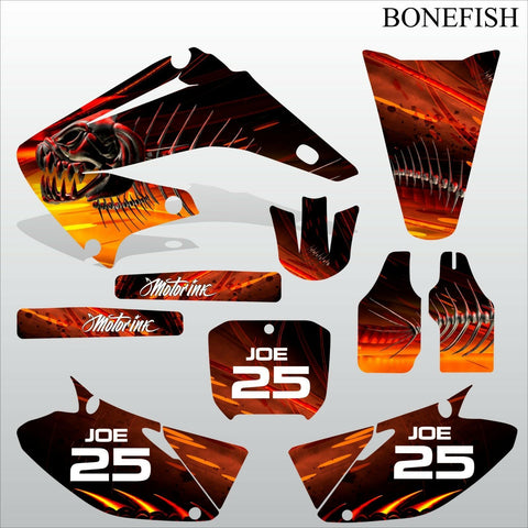 Honda CR125 CR250 2002-2007 BONEFISH motocross decals set MX graphics kit