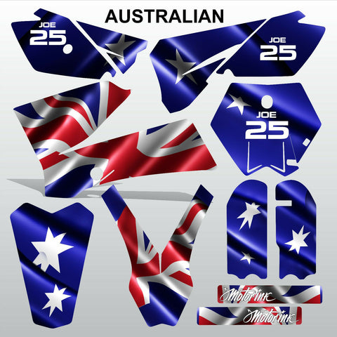 KTM SX 85-105 2006-2012 AUSTRALIAN motocross racing  decals set MX graphics