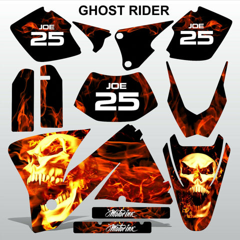 KTM EXC 2001-2002 GHOST RIDER  motocross decals  stripes set MX graphics kit
