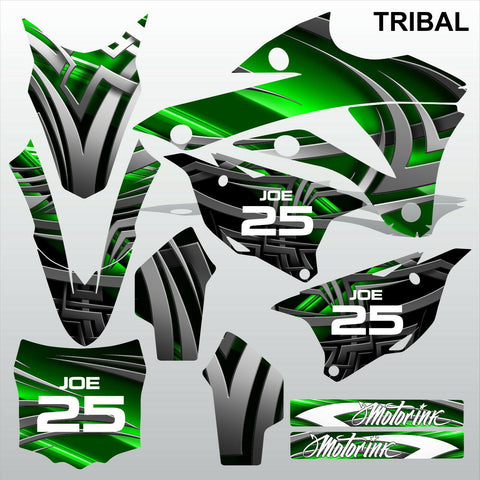 Kawasaki KX 85-100 2014-2015 TRIBAL motocross racing decals set MX graphics kit