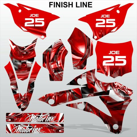 Kawasaki KX 85-100 2014-2015 FINISH LINE motocross decals set MX graphics kit
