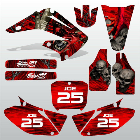 Honda CR125 CR250 2002-2007 DEVIL PUNISHER motocross decals set MX graphics kit