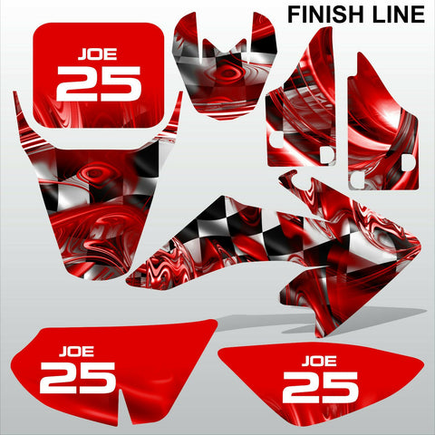 Honda CRF 50 2004-2016 FINISH LINE racing motocross decals set MX graphics kit