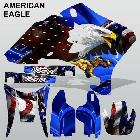 Yamaha WR 250F 450F 2005-2006 AMERICAN EAGLE motocross decals set MX graphics