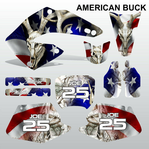 Honda CR125 CR250 2000 2001 AMeriCAN BUCK motocross decals set MX graphics kit