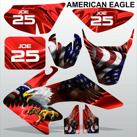 Honda CRF 50 2004-2016 AMERICAN EAGLE racing motocross decals set MX graphics