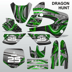 Kawasaki KX 80 1998-2000 DRAGON HUNT motocross decals MX graphics kit stripes