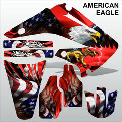 Honda CR125 CR250 2002-2007 AMERICAN EAGLE motocross racing decals MX graphics