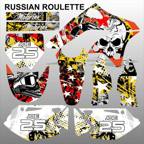 Kawasaki KXF 250 2006-2008 RUSSIAN ROULETTE motocross decals set MX graphics kit