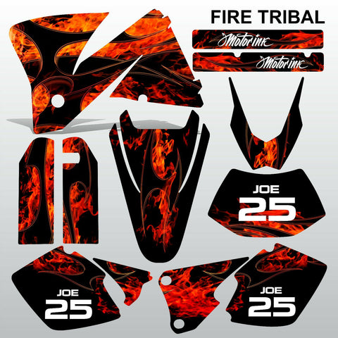 KTM EXC 2001-2002 FIRE TRIBAL race motocross decals  stripes set MX graphics kit