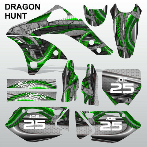 Kawasaki KXF 250 2006-2008 DRAGON HUNT motocross decals set MX graphics kit