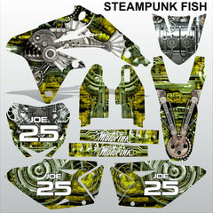 Suzuki RMZ 450 2008-2017 STEAMPUNK FISH motocross racing decals set MX graphics