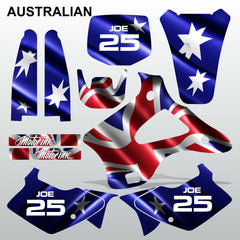 Kawasaki KX 125-250 1994-1998 AUSTRALIAN motocross decals set MX graphics