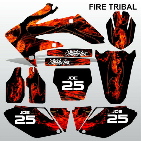 Honda CRF 250 2006-2007 FIRE TRIBAL motocross decals MX graphics kit
