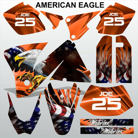 KTM EXC 2001-2002 AMERICAN EAGLE motocross decals stripes racing MX graphics