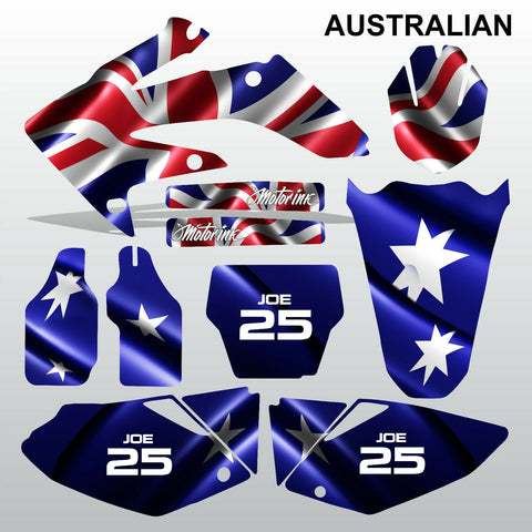 Honda CRF 250 2004-2005 AUSTRALIAN motocross decals MX graphics kit