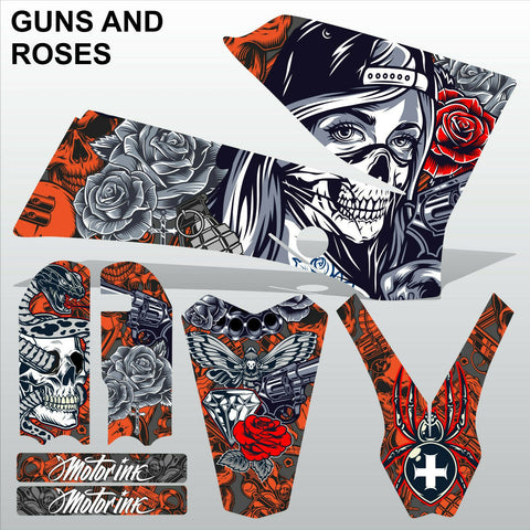 KTM SX 85-105 2006-2012 GUNS AND ROSES motocross racing decals set MX graphics