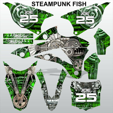 Kawasaki KX 85-100 2014-2015 STEAMPUNK FISH motocross racing decals MX graphics