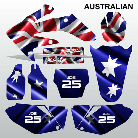 Honda CRF 250 2006-2007 AUSTRALIAN motocross decals MX graphics kit