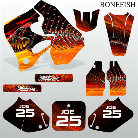 Honda CR125 CR250 1993 1994 BONEFISH motocross decals set MX graphics kit