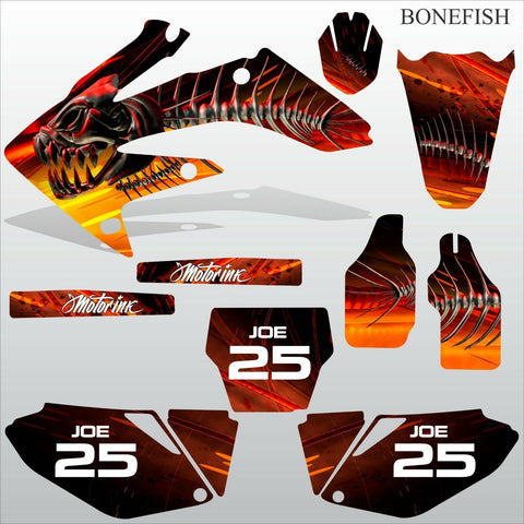 Honda CRF 250 2006 2007 BONEFISH motocross decals set MX graphics kit