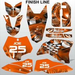 KTM SX 2007-2010 FINISH LINE motocross decals racing stripes set MX graphics kit