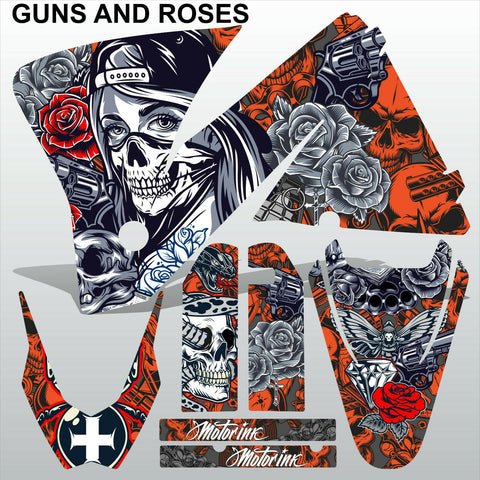 KTM EXC 2001-2002 GUNS AND ROSES motocross decals set MX graphics kit