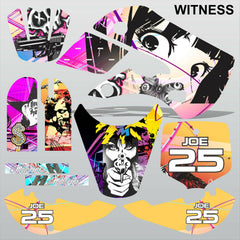 Kawasaki KX 65 2000-2015 WITNESS motocross racing decals set MX graphics kit