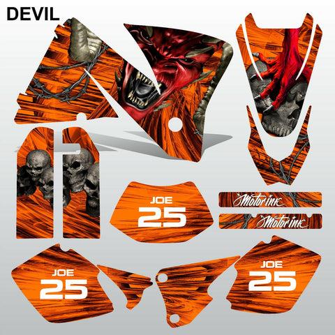 KTM EXC 2001-2002 DEVIL PUNISHER motocross decals  stripes set MX graphics kit
