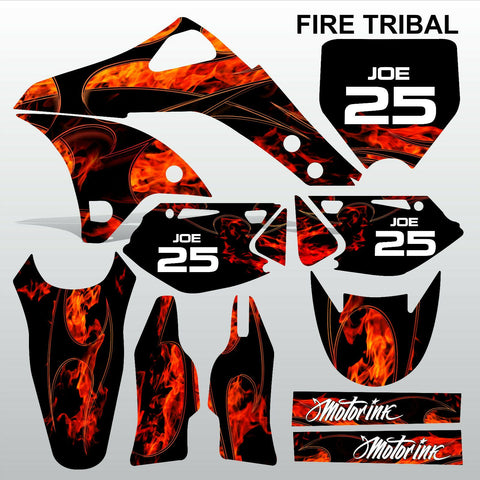 Kawasaki KXF 250 2006-2008 FIRE TRIBAL race motocross decals set MX graphics kit