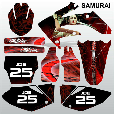 Honda CRF 250 2004-2005 SAMURAI motocross racing decals set MX graphics kit