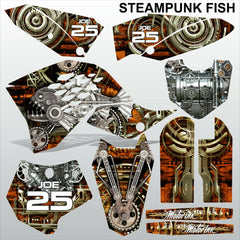KTM SX 65 2009-2012 STEAMPUNK FISH motocross racing decals stripe set MX graphic