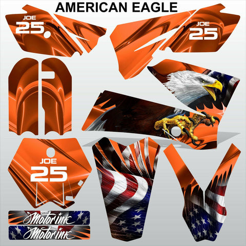 KTM SX 85-105 2006-2012 AMERICAN EAGLE motocross racing decals set MX graphics