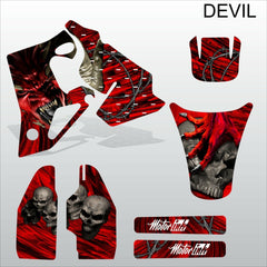 Honda CR80 1996-2002 DEVIL motocross decals set MX graphics kit