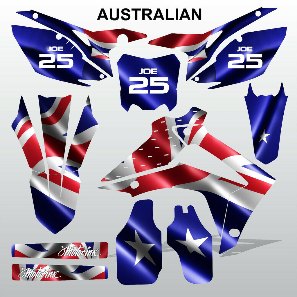 Honda CRF450 2013-2014 CRF250 2014 AUSTRALIAN motocross decals MX graphics