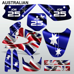 Kawasaki KX 80 1998-2000 AUSTRALIAN motocross decals MX graphics kit stripes
