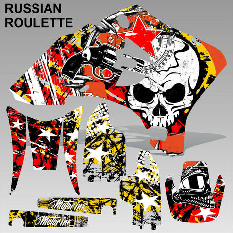 Yamaha WR 250F 450F 2005-2006 RUSSIAN ROULETTE motocross decals set MX graphics